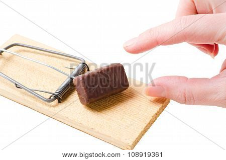 diet mousetrap on white