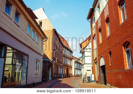 Timber Houses Old Town Center. Lower Saxony, Germany