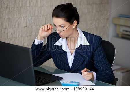 Surprised Accountant Reading Tax Laws