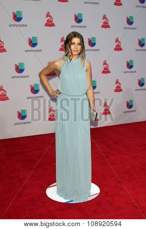 LAS VEGAS - NOV 19:  Sofia Reyes at the 16th Latin GRAMMY Awards at the MGM Grand Garden Arena on November 19, 2015 in Las Vegas, NV