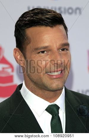 LAS VEGAS - NOV 19:  Ricky Martin at the 16th Latin GRAMMY Awards at the MGM Grand Garden Arena on November 19, 2015 in Las Vegas, NV