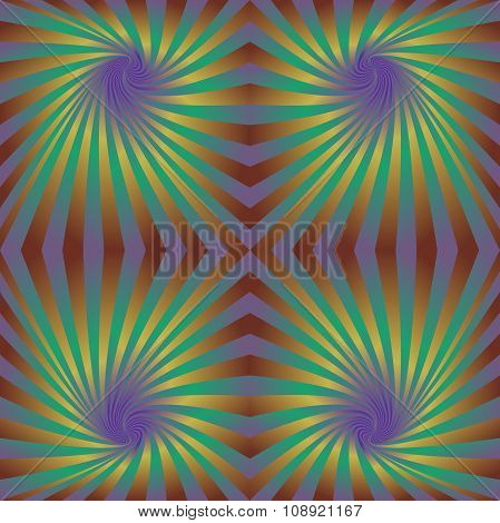 Seamless hypnotic swirl pattern background