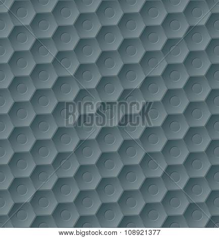Dark Seamless Hexagon Pattern Background