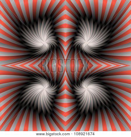 Silver red swirl background