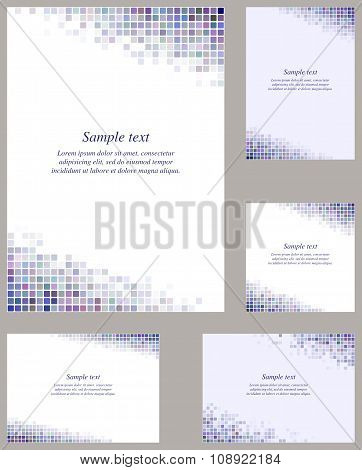 Colorful page corner mosaic template set