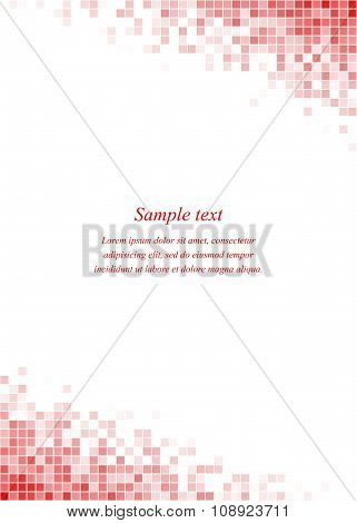 Red page corner design template