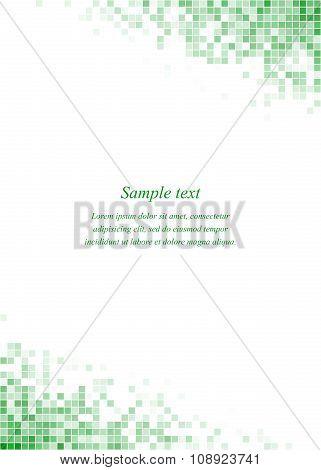 Green page corner square design template