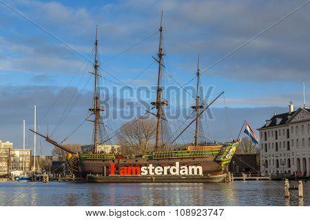 Historic Cargo Schip The Amsterdam