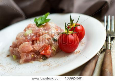Delicious Raw Tuna Tartare