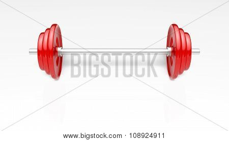 Red Barbells More Weight