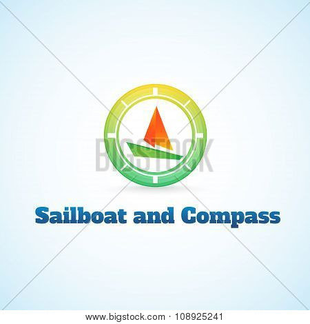 Sailboat And Compass.