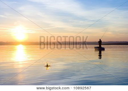 Fisherman. Splash