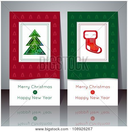 Vector Illustration. Christmas And New Year Greeting Card.