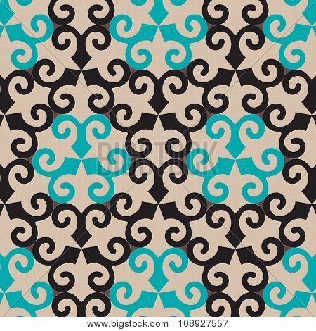 Vector Oriental Ornamental Seamless Pattern