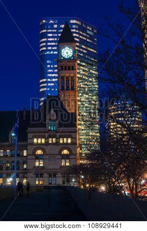 Clock Tower in Old City Hall, Toronto,Canada