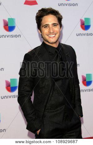 LAS VEGAS - NOV 19:  Diego Boneta at the 16th Latin GRAMMY Awards at the MGM Grand Garden Arena on November 19, 2015 in Las Vegas, NV