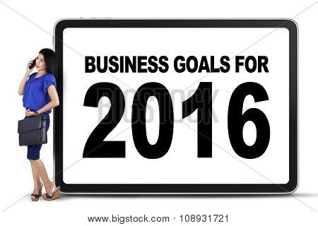 Pretty Worker With Business Goals For 2016