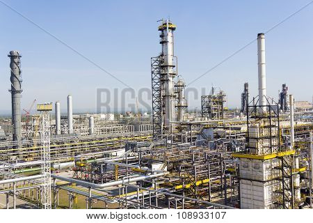 Russian Refinery Complex At Summer Daylight