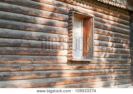 Wooden Window In The House