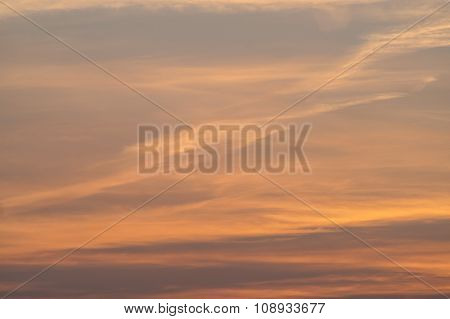 The Sky At Sunset