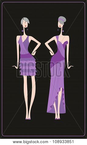 two evening dresses for celebrations