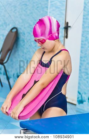 Girl In Pink Rubber Hat