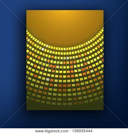 New Orange Sunburst Business Vector Background