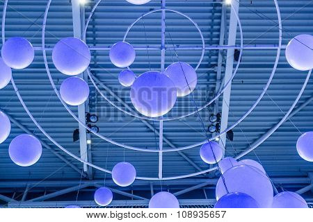 Blue Circle Lights