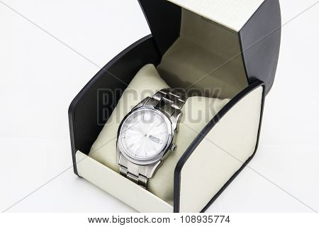 Luxury Watch On A White Background