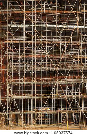 Close Up Of Scaffolding