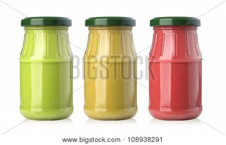 Sauces In Glass Jars