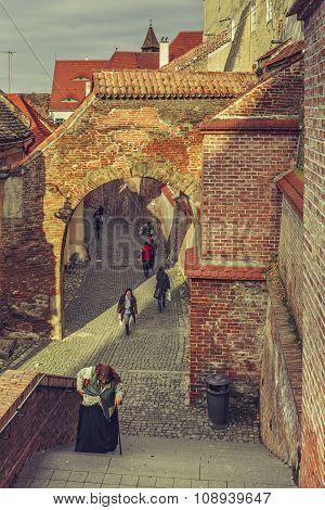 Medieval Town, Sibiu, Romania