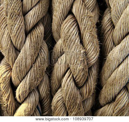 Boat Rope Closeup. Nautical Background.