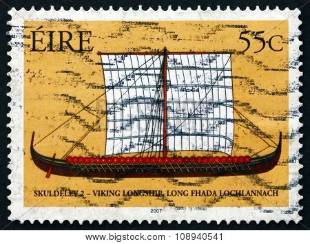 Postage Stamp Ireland 2007 Viking Ship Skuldelev