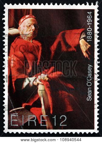 Postage Stamp Ireland 1980 Sean O'casey, Irish Dramatist