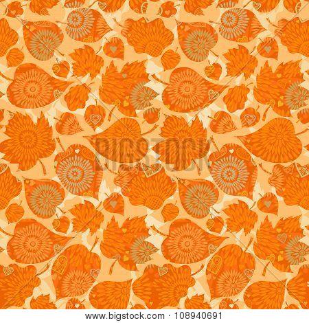 Autumn Concept Seamless Pattern.
