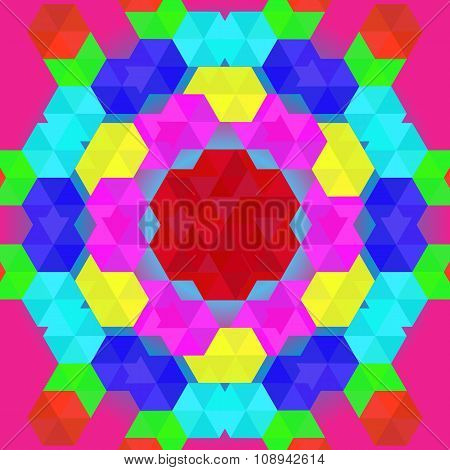Colorful geometric pattern in rainbow colors