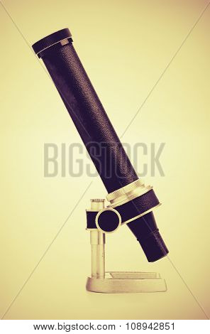 Vintage Microscope Side View