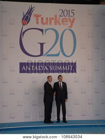 G20 Antalya Summit Welcoming Ceremony