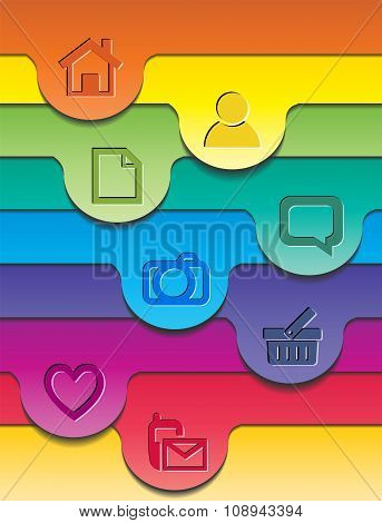 Abstract colorful layout.