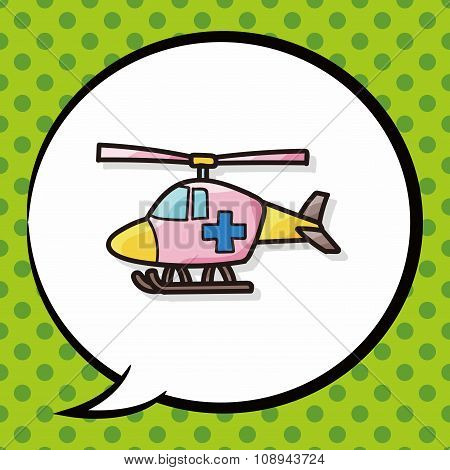 Medical Helicopter Color Doodle