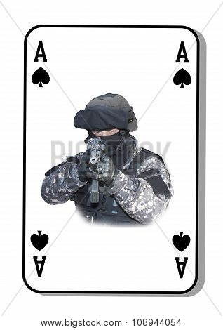 The ace of spades in the fight. Special unit to fight terrorists.