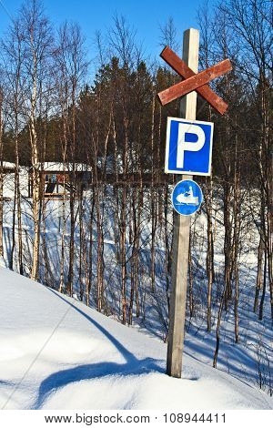 Parking Place For Snow Scooter
