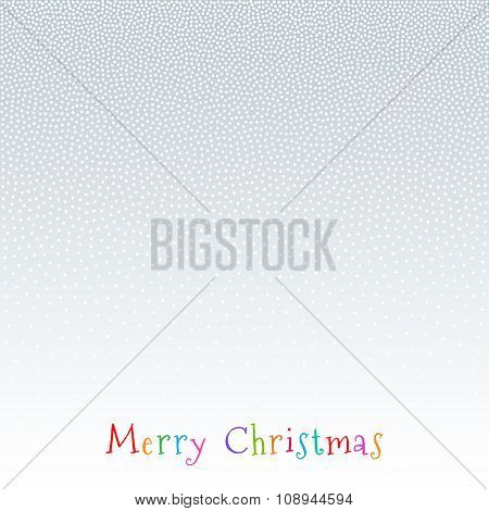 Christmas, New Year Gradient Snow Fake Dots Background