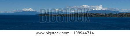 Volcanoes Osorno and Calbuco