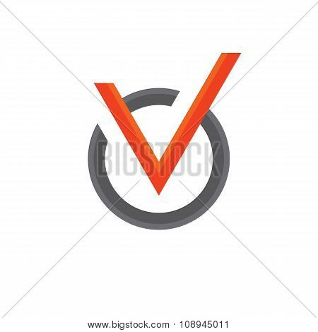 Vector icon of check box. Universal business icons for answer of yes. Concept check icon.