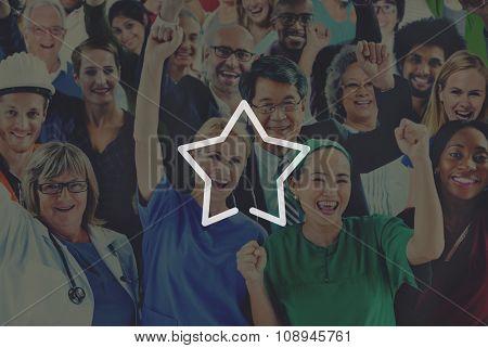 Star Good Great Success Excellent Reward Concept