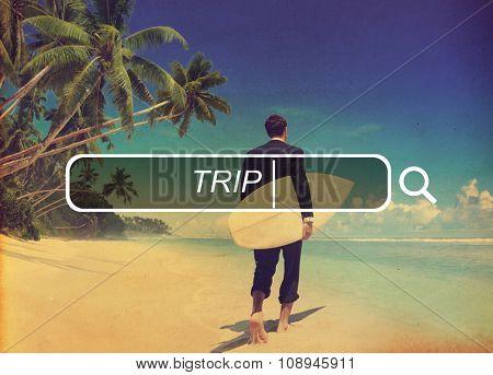 Trip Vacation Holiday Tourism Destination Leisure Concept