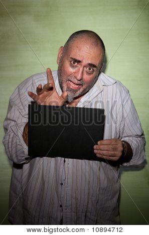 Waving Man In Mugshot