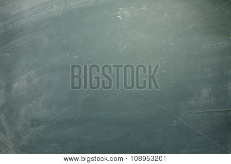 Chalk rubbed out on chalkboard